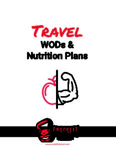 Travel Wods and Nutrition Plans